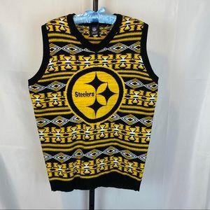 Pittsburgh Steelers NFL Sweater Vest, size Medium